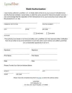Debit Authorization Photo
