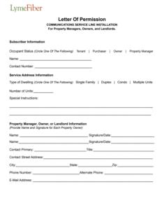 LymeFiber Letter Of Permission Photo
